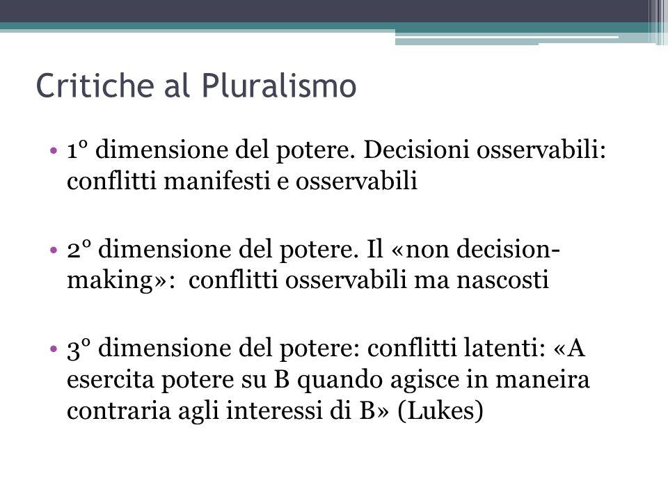 Critiche al Pluralismo