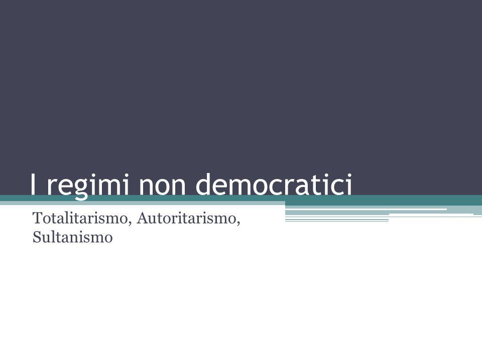 I regimi non democratici