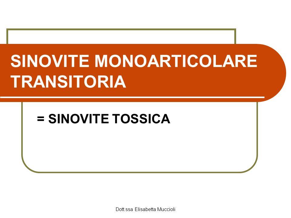 SINOVITE MONOARTICOLARE TRANSITORIA