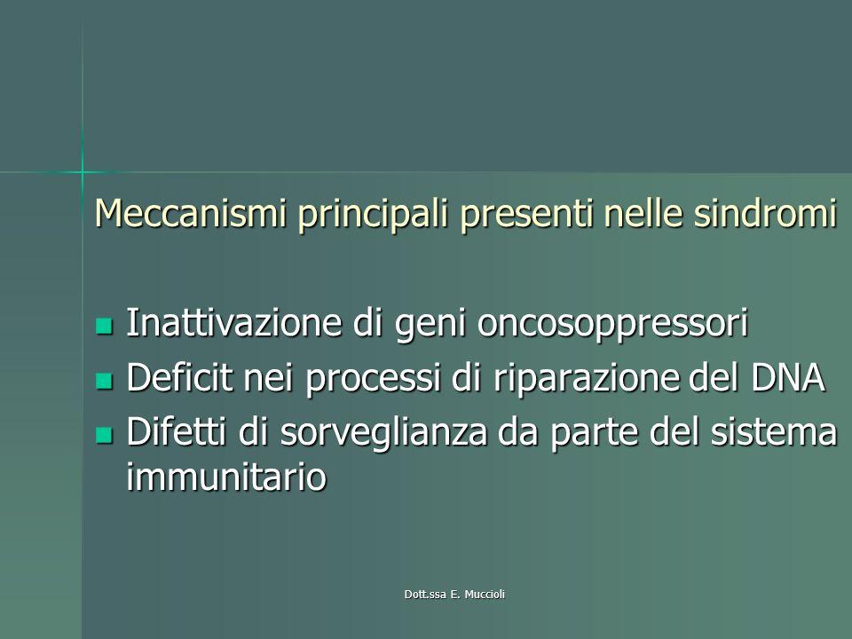 Meccanismi principali presenti nelle sindromi