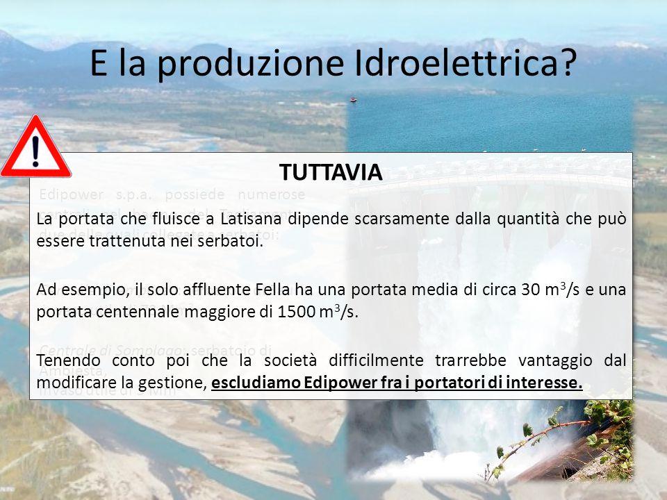 E la produzione Idroelettrica