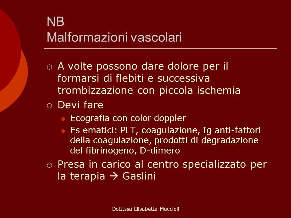 NB Malformazioni vascolari