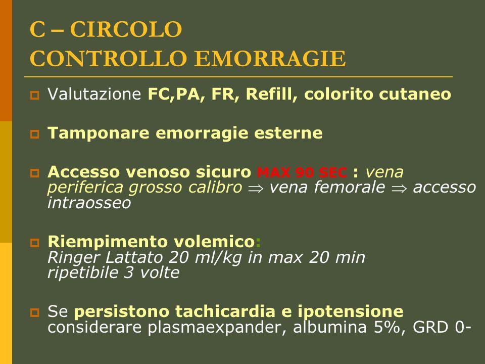 C – CIRCOLO CONTROLLO EMORRAGIE