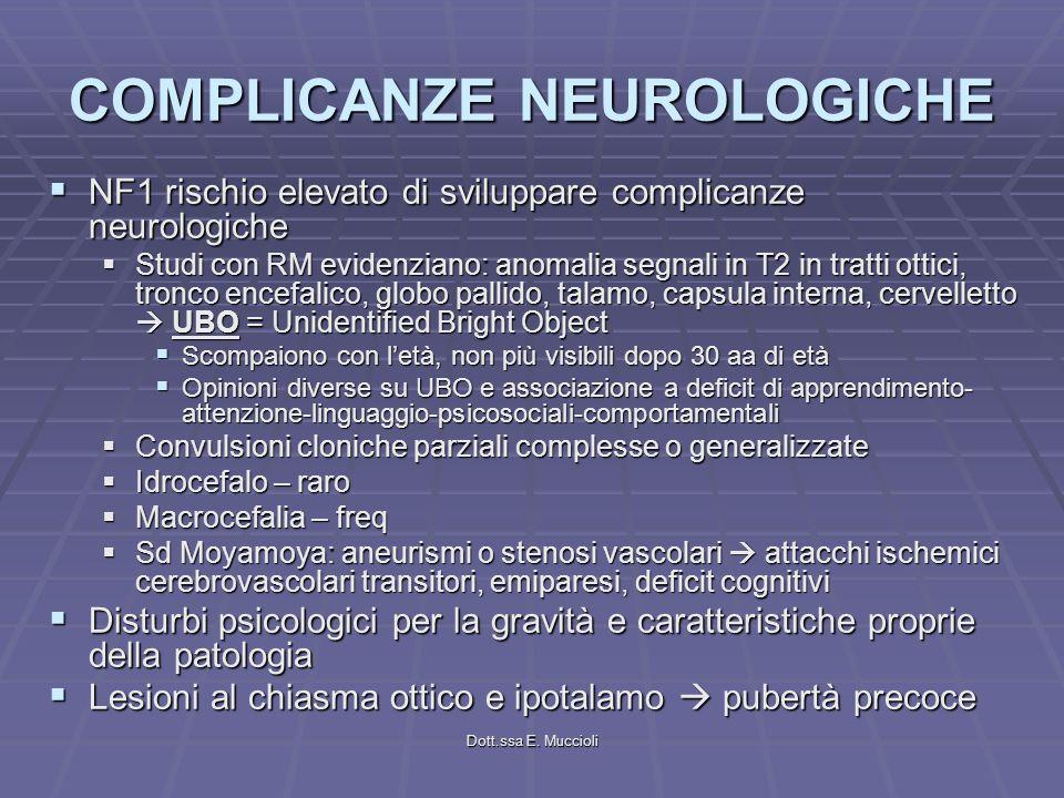COMPLICANZE NEUROLOGICHE