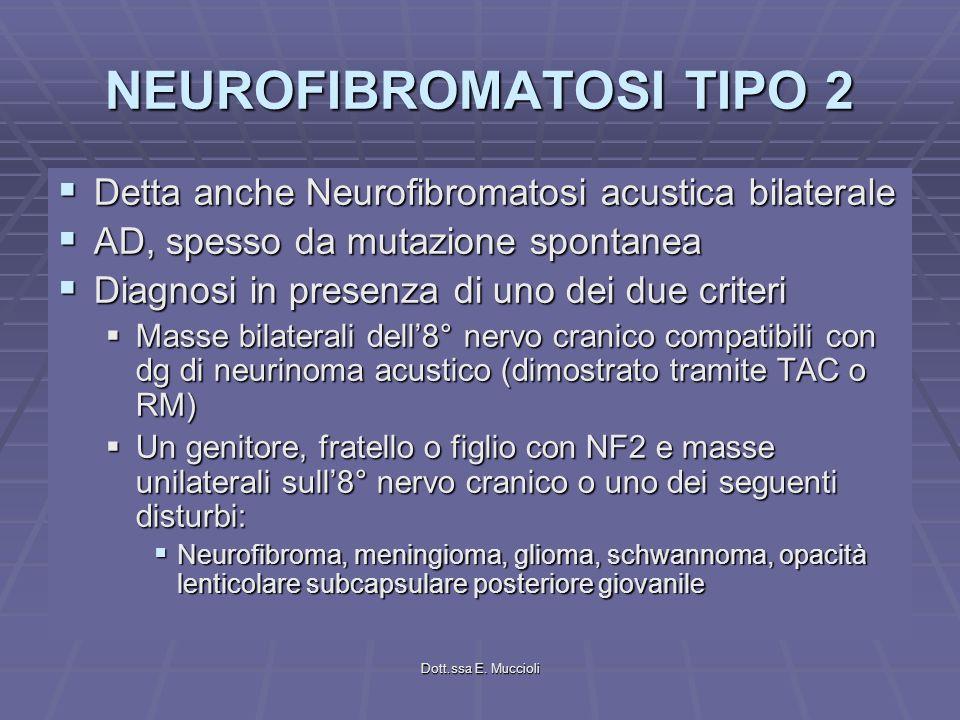 NEUROFIBROMATOSI TIPO 2