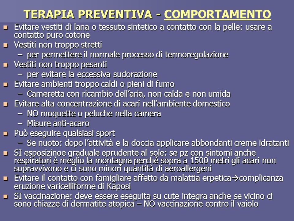TERAPIA PREVENTIVA - COMPORTAMENTO