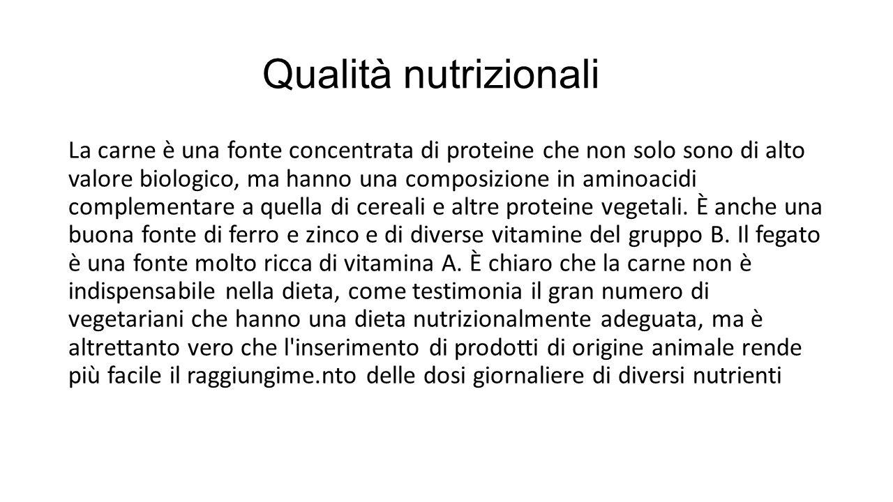 Qualità nutrizionali