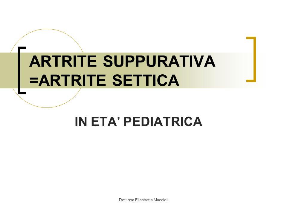 ARTRITE SUPPURATIVA =ARTRITE SETTICA