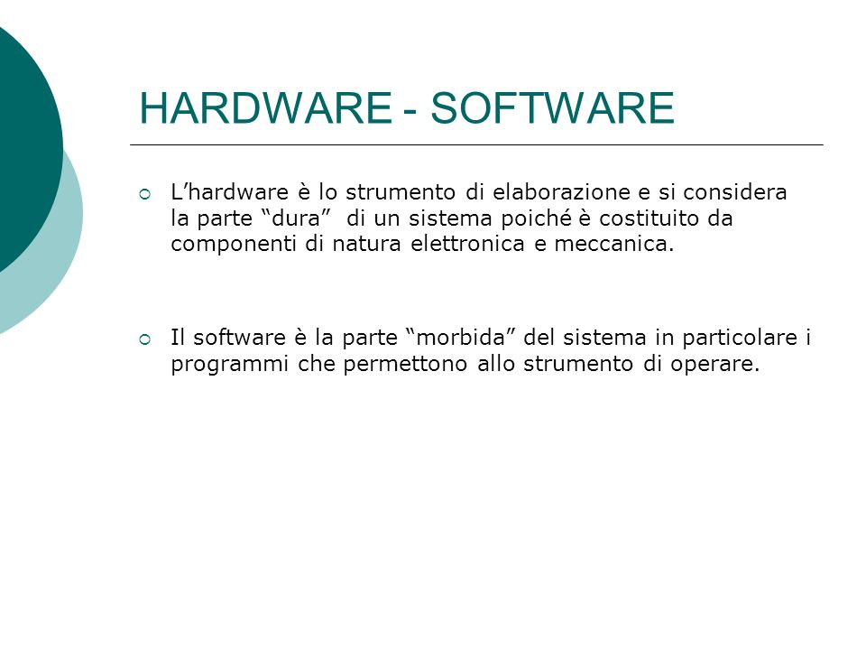 HARDWARE - SOFTWARE