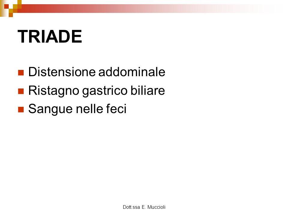 TRIADE Distensione addominale Ristagno gastrico biliare