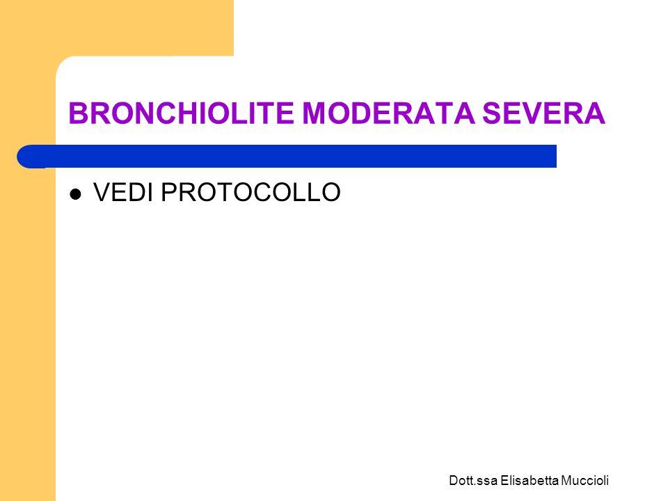 BRONCHIOLITE MODERATA SEVERA