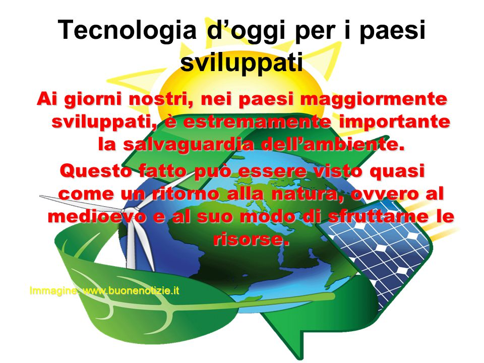 Tecnologia d'oggi per i paesi sviluppati
