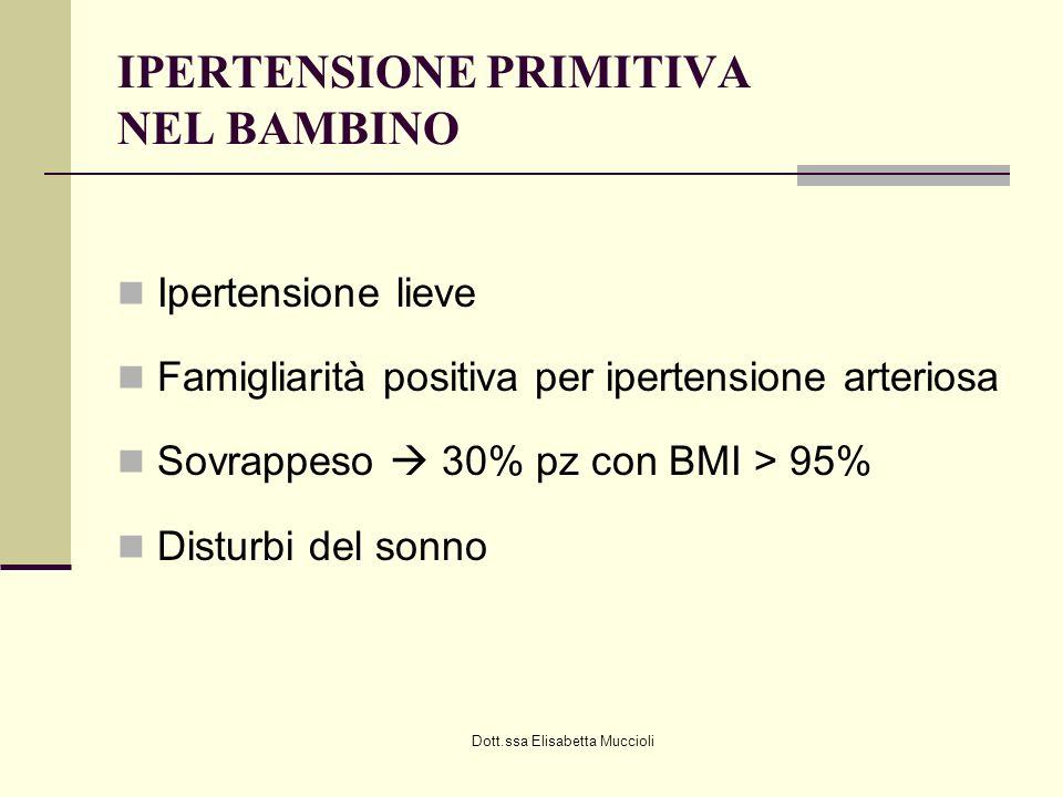 IPERTENSIONE PRIMITIVA NEL BAMBINO