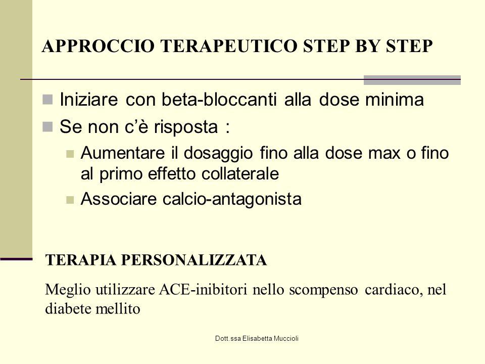 APPROCCIO TERAPEUTICO STEP BY STEP