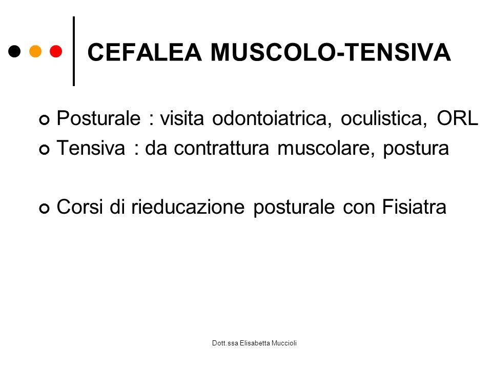 CEFALEA MUSCOLO-TENSIVA