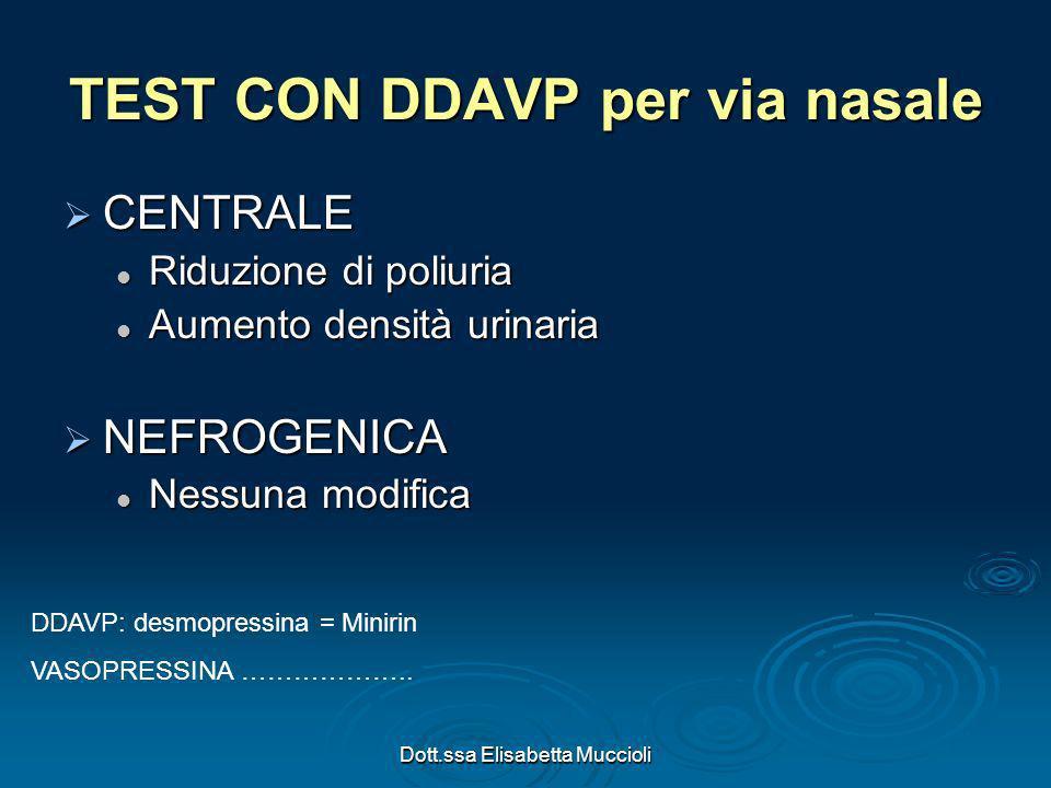 TEST CON DDAVP per via nasale