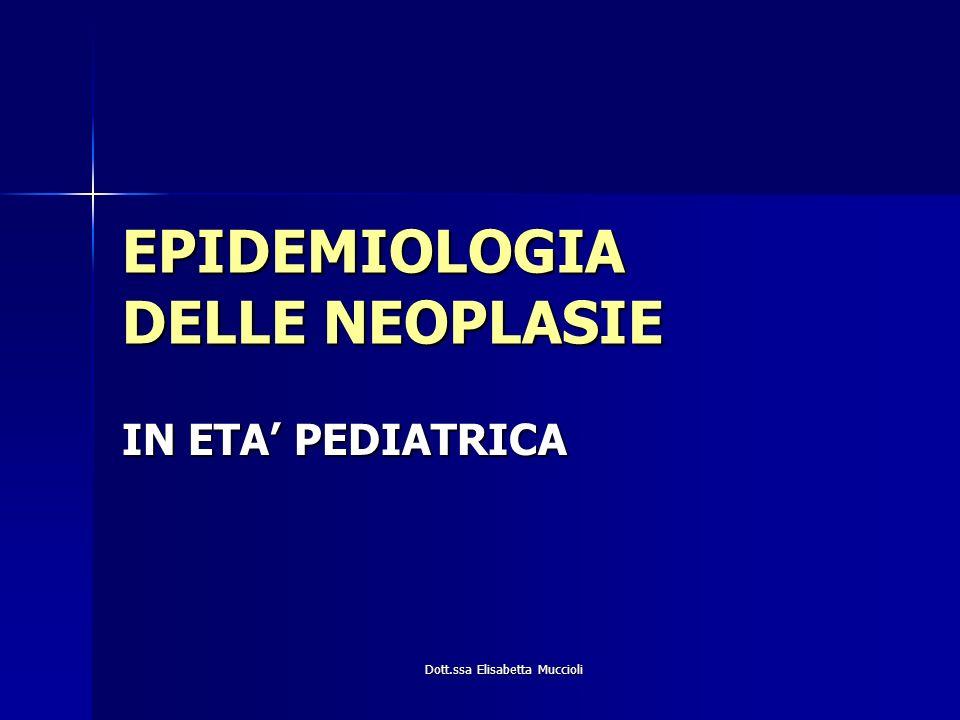 EPIDEMIOLOGIA DELLE NEOPLASIE