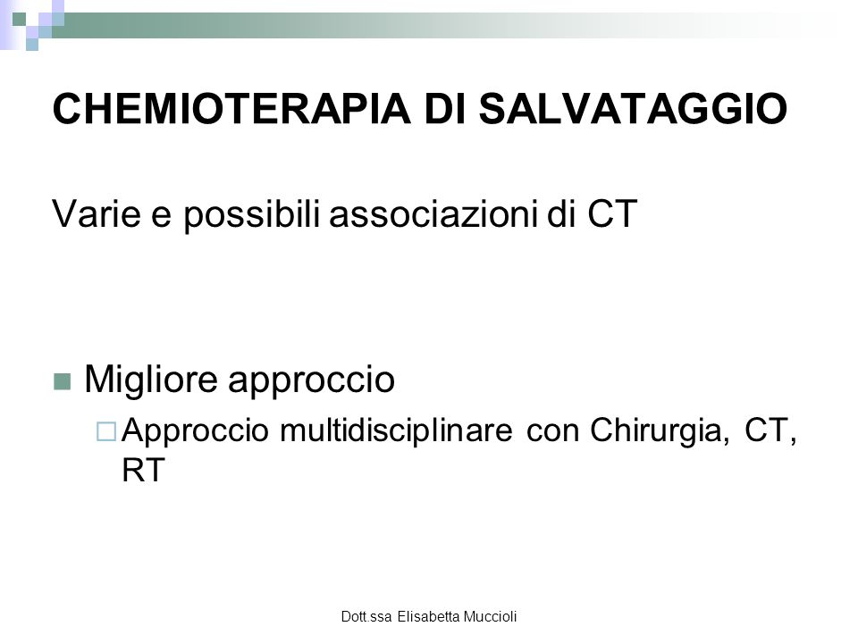 CHEMIOTERAPIA DI SALVATAGGIO