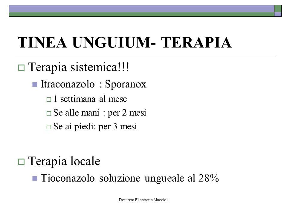 TINEA UNGUIUM- TERAPIA