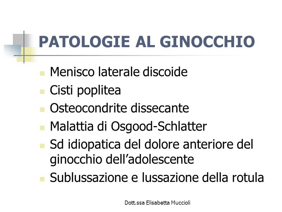 PATOLOGIE AL GINOCCHIO