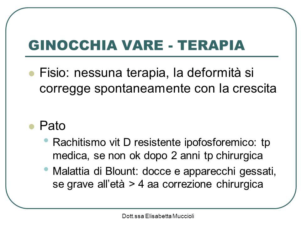 GINOCCHIA VARE - TERAPIA
