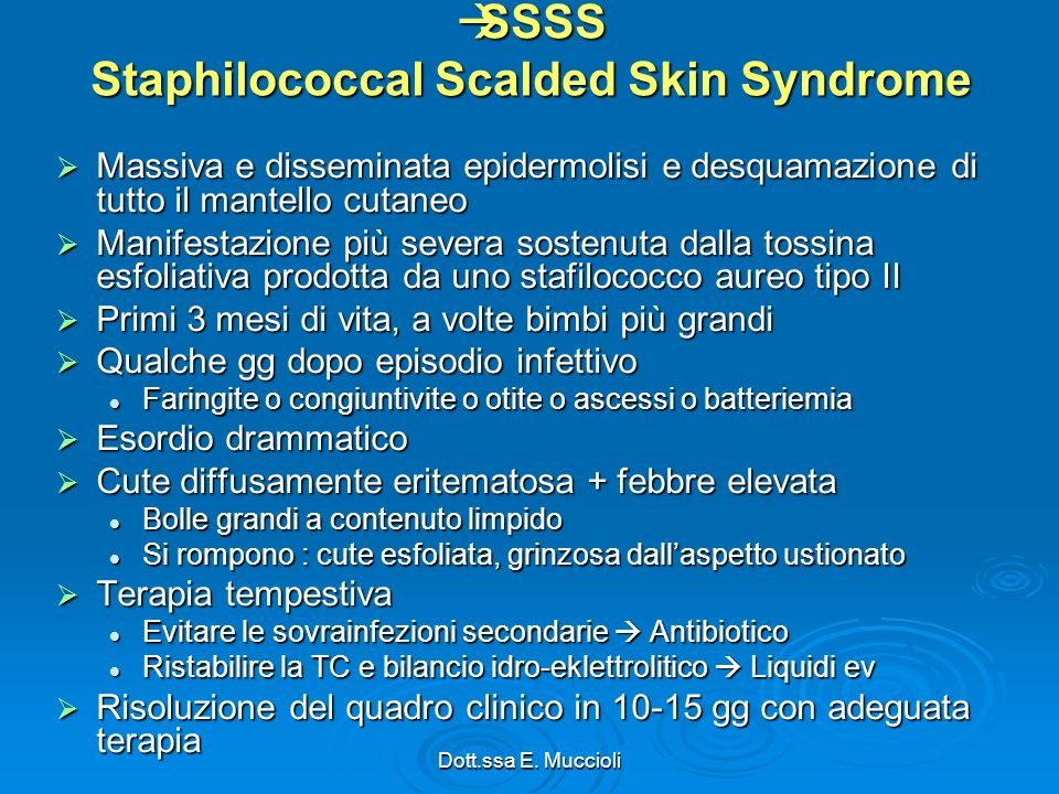 SSSS Staphilococcal Scalded Skin Syndrome