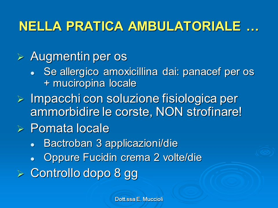 NELLA PRATICA AMBULATORIALE …
