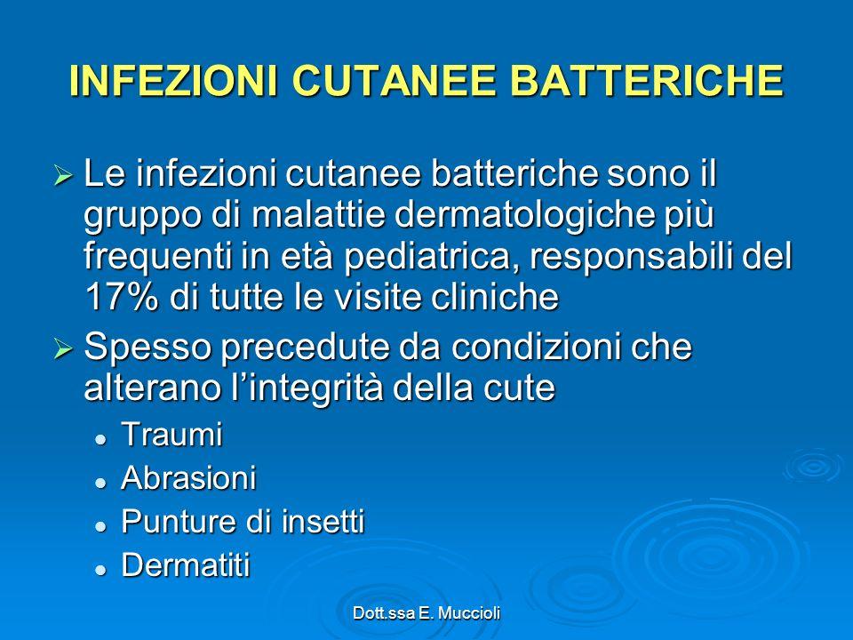 INFEZIONI CUTANEE BATTERICHE