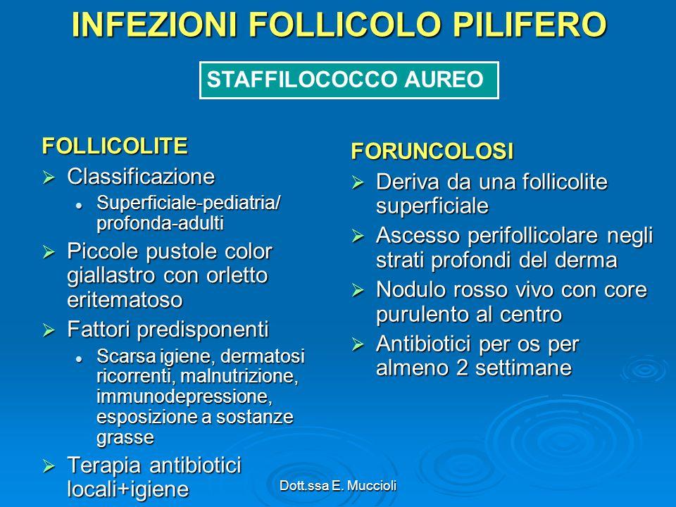 INFEZIONI FOLLICOLO PILIFERO