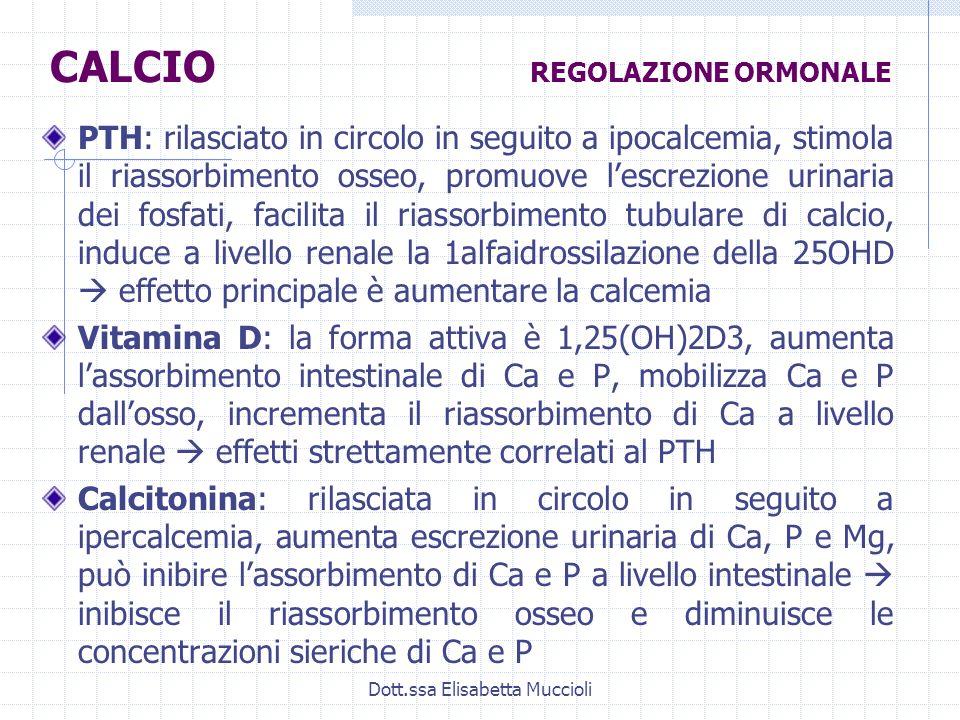 CALCIO REGOLAZIONE ORMONALE