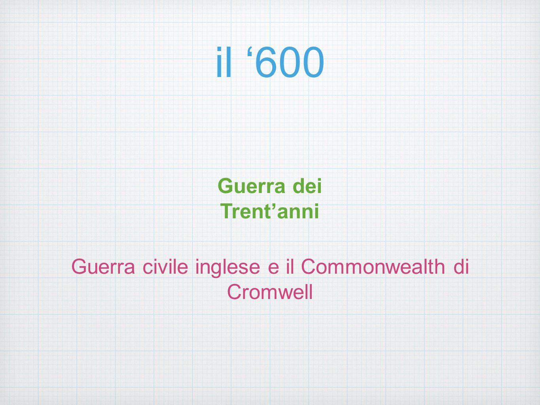 Guerra civile inglese e il Commonwealth di Cromwell