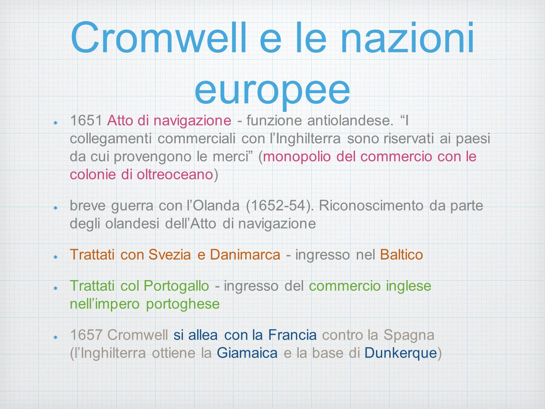 Cromwell e le nazioni europee