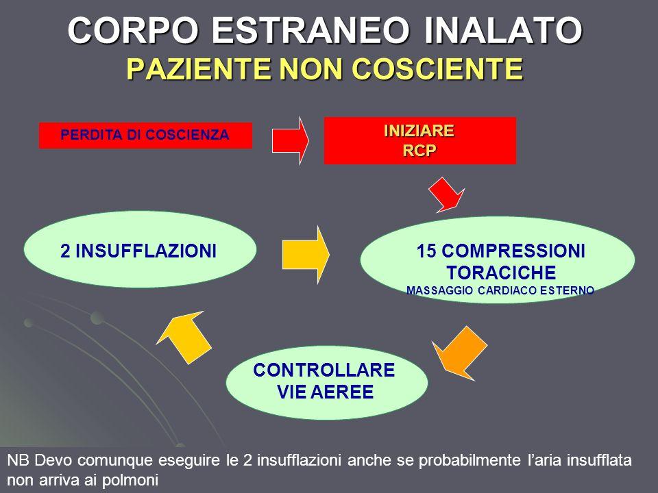CORPO ESTRANEO INALATO PAZIENTE NON COSCIENTE