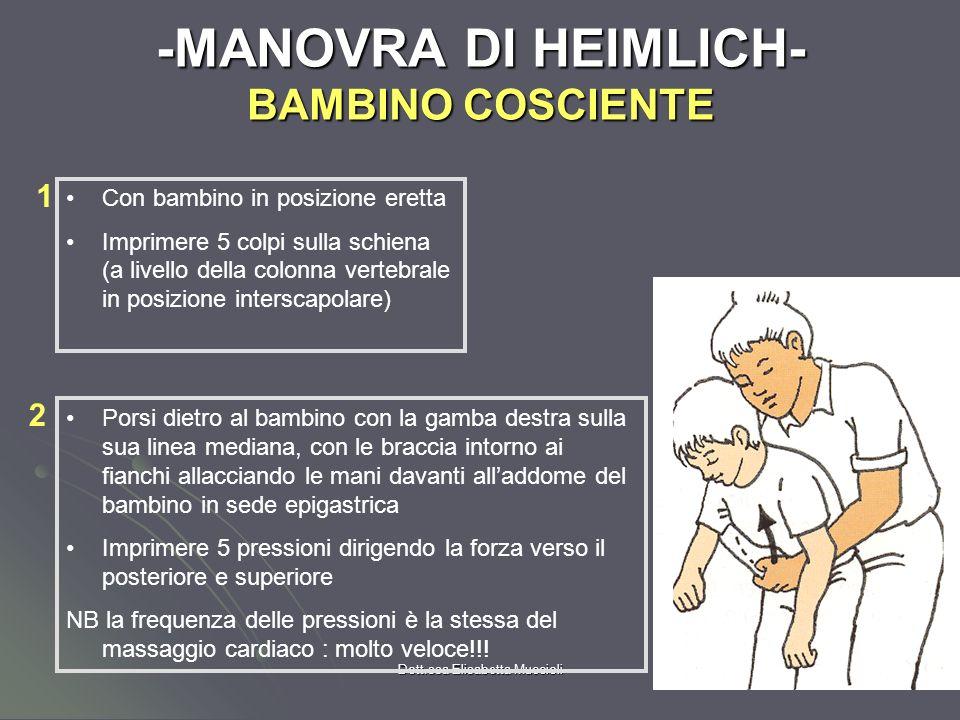 -MANOVRA DI HEIMLICH- BAMBINO COSCIENTE