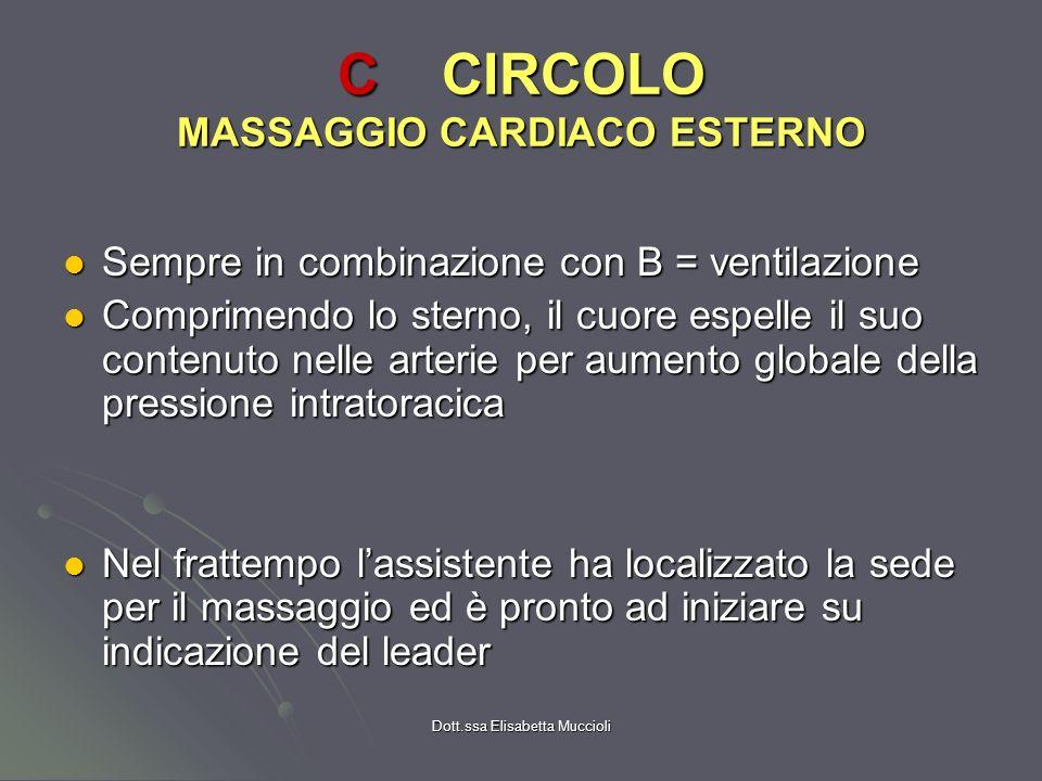 C CIRCOLO MASSAGGIO CARDIACO ESTERNO
