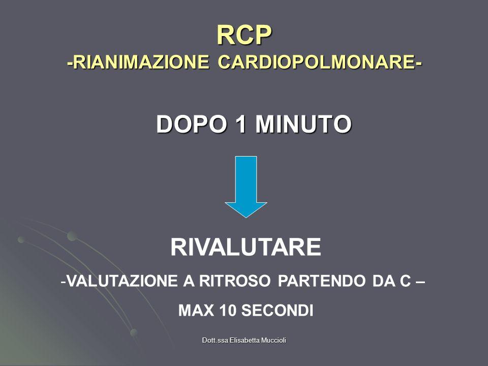 RCP -RIANIMAZIONE CARDIOPOLMONARE-