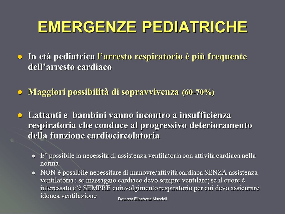 EMERGENZE PEDIATRICHE