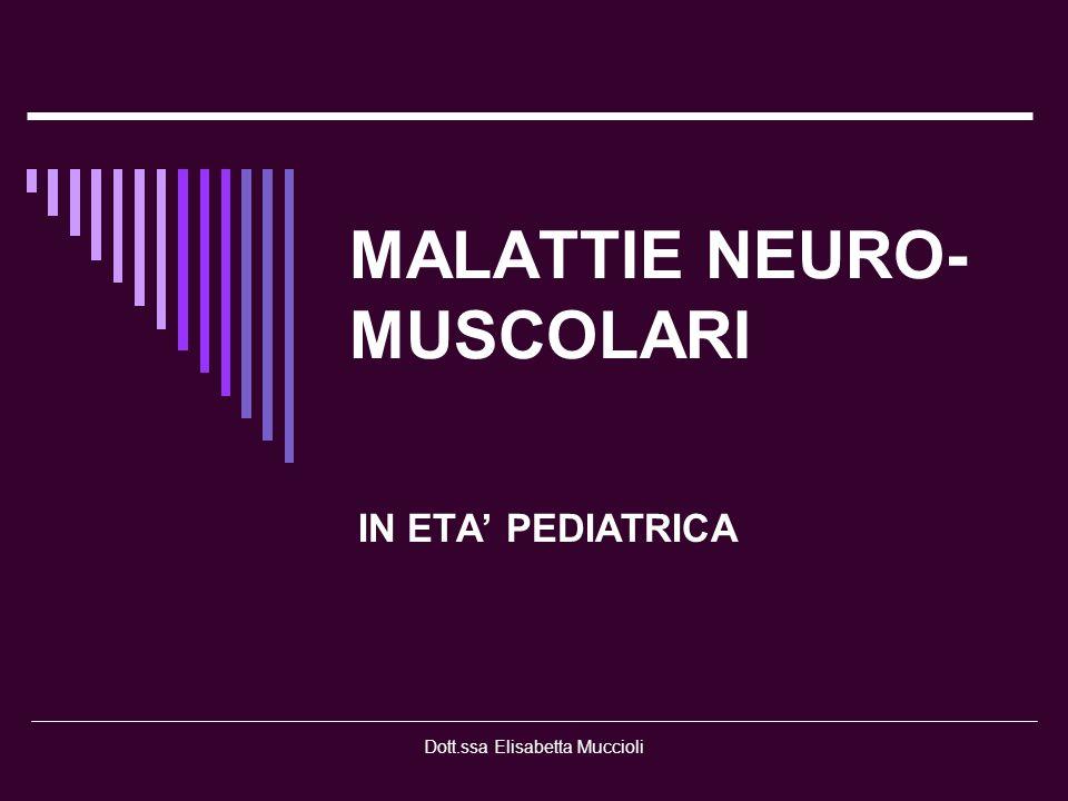 MALATTIE NEURO-MUSCOLARI