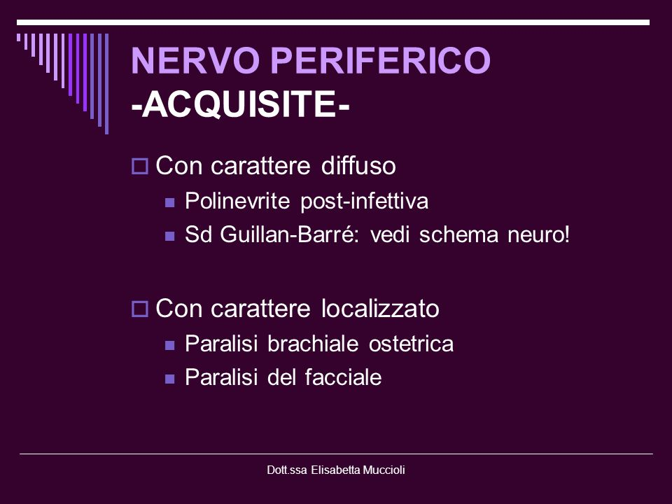 NERVO PERIFERICO -ACQUISITE-