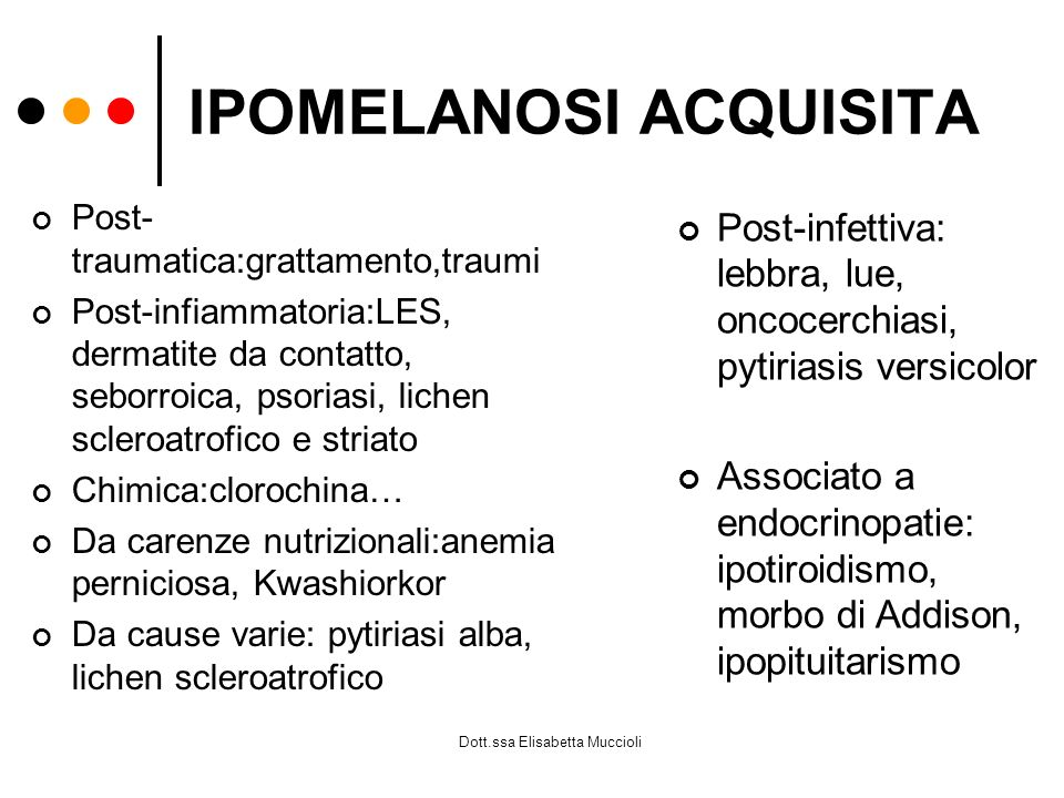 IPOMELANOSI ACQUISITA