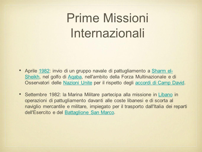 Prime Missioni Internazionali