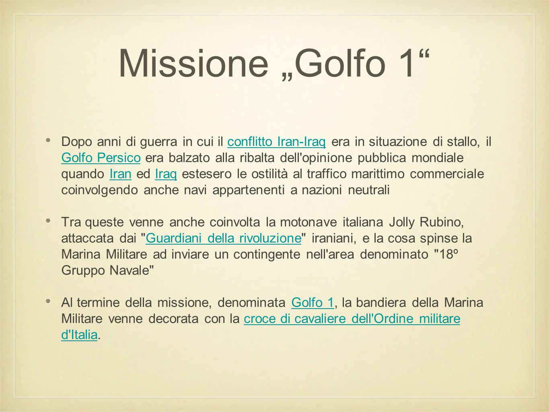 "Missione ""Golfo 1"