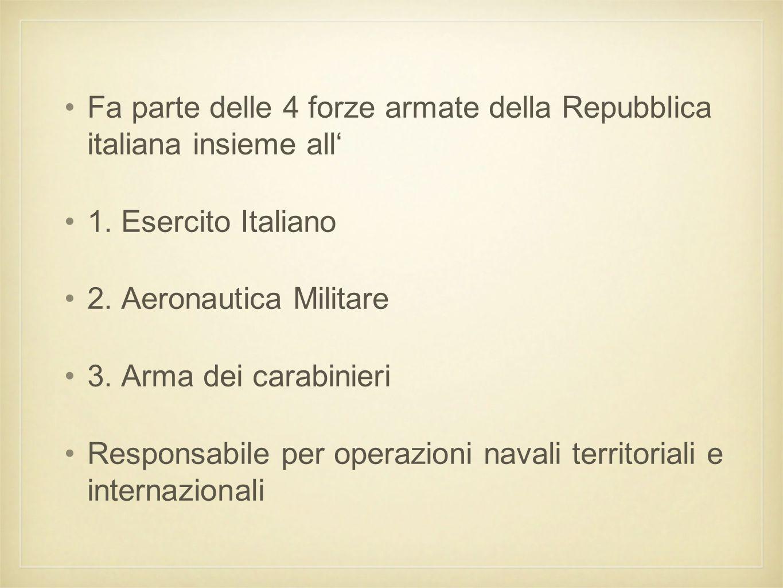 Fa parte delle 4 forze armate della Repubblica italiana insieme all'