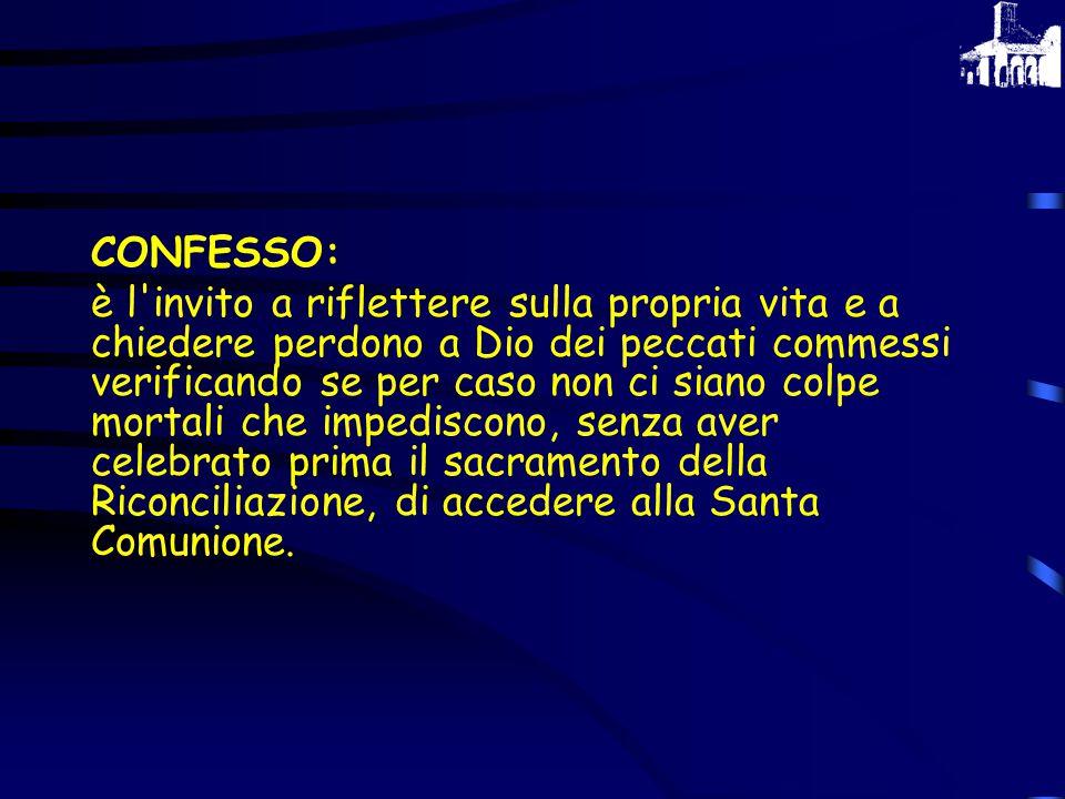 CONFESSO: