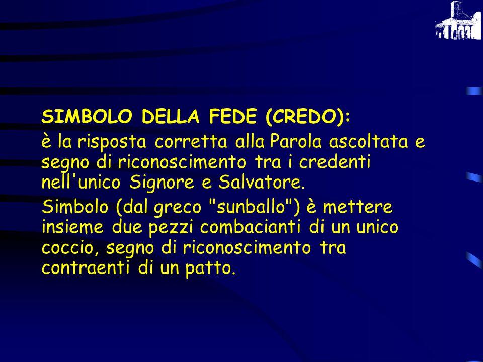 SIMBOLO DELLA FEDE (CREDO):