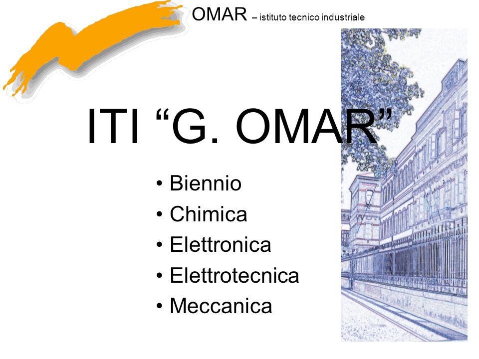 Biennio Chimica Elettronica Elettrotecnica Meccanica