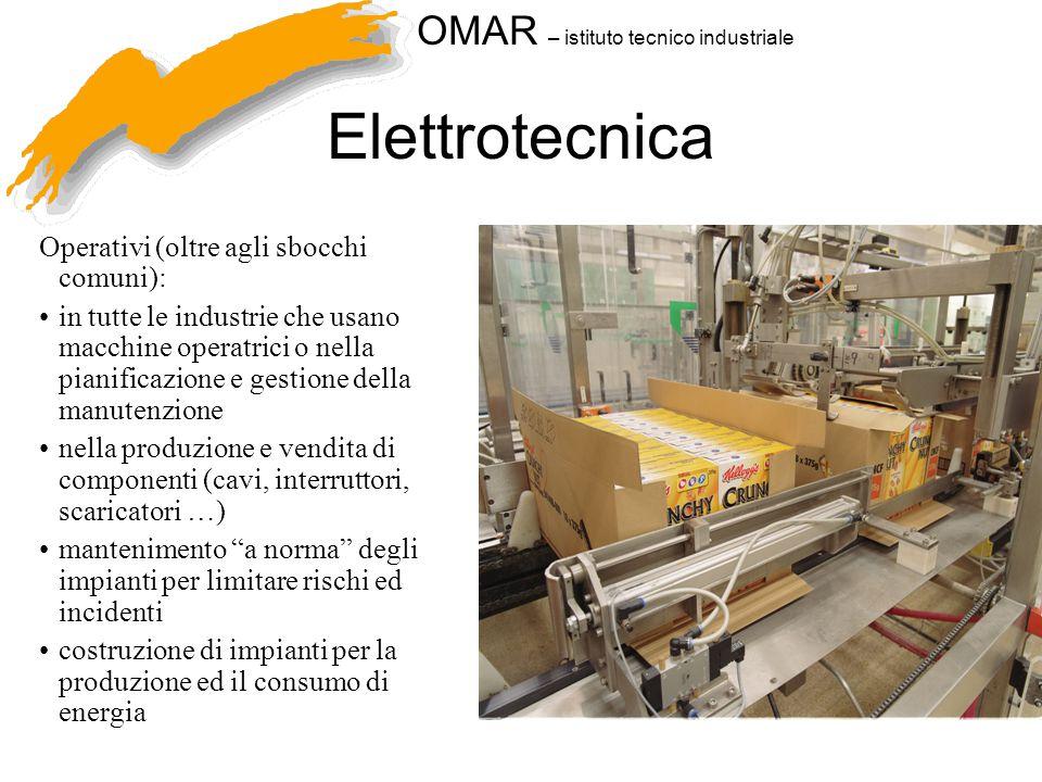 Elettrotecnica Operativi (oltre agli sbocchi comuni):