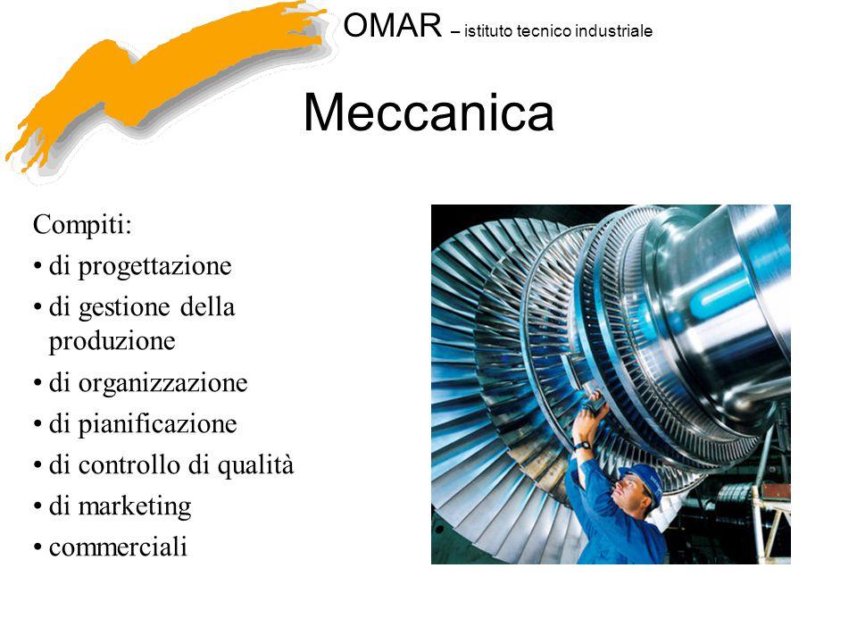 Meccanica Compiti: di progettazione di gestione della produzione