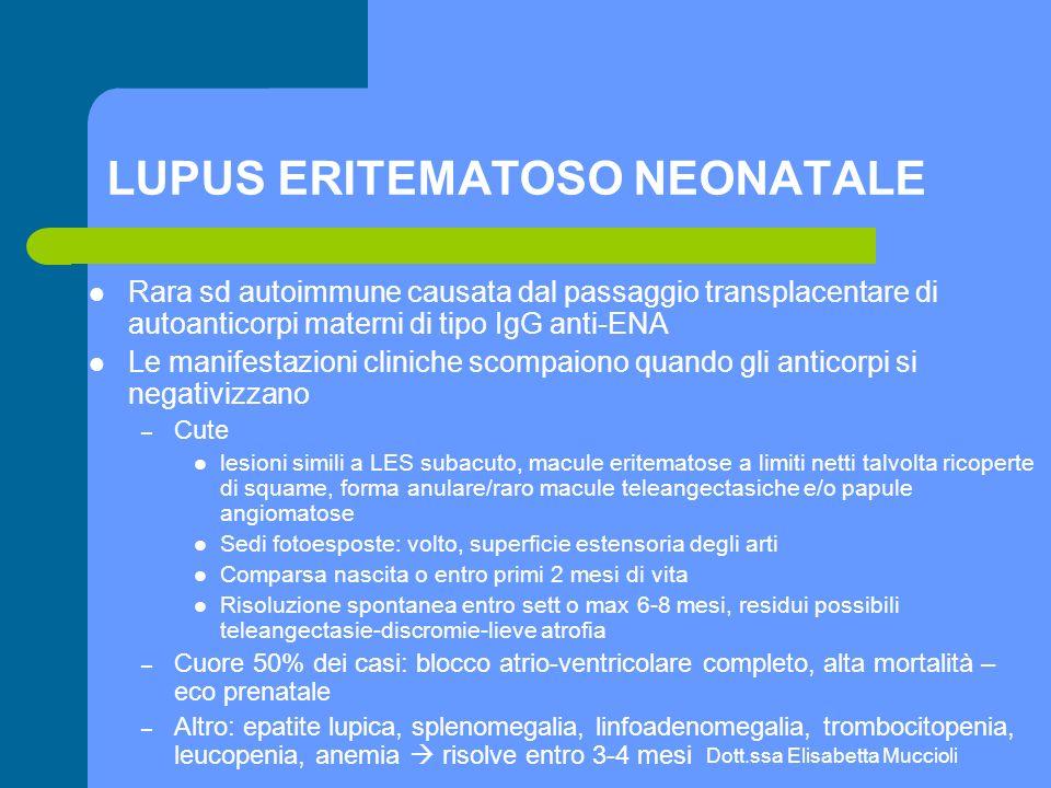 LUPUS ERITEMATOSO NEONATALE