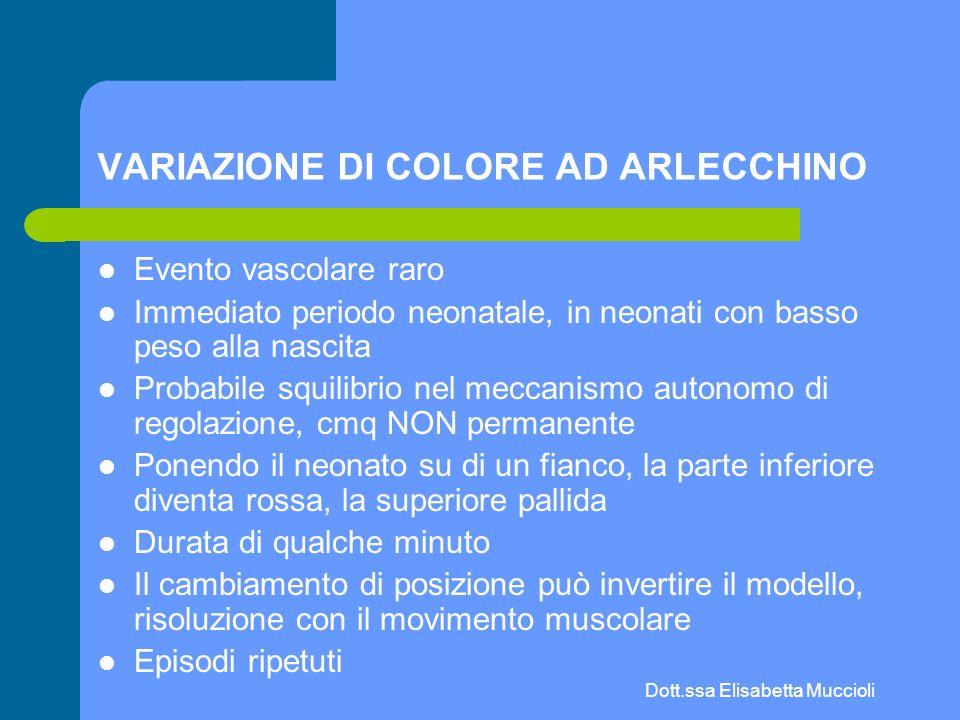 VARIAZIONE DI COLORE AD ARLECCHINO
